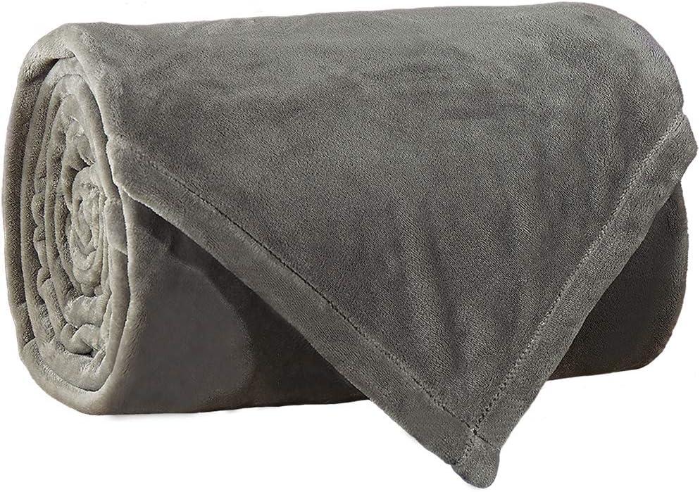 LBRO2M Fleece Bed Blanket Super Soft Warm Fuzzy Velvet Plush Throw Lightweight...