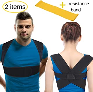BodyMoves Back Posture Corrector for women & men- figure 8 back brace support for better back and lower back pain relief- premium upper back corrective therapy keep back straight under shirt (REG)