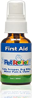 PET RELIEF Dog First Aid Spray, Safe & Natural Wound Care For Dogs,! 30ml Dog First Aid Kit Supplies, Better Than Meds Or Antibiotic Ointment, No Side Effects! Made In USA
