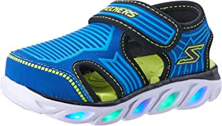 Skechers Hypno-Splash - Zotex Boys Sneakers, Blue/Lime, 6 US