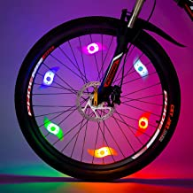 willceal Bike Spoke Light, Bike Wheel Light,Tyre Wire Right with Flash Model Neon Lamps,Bike Safety Alarm Light.