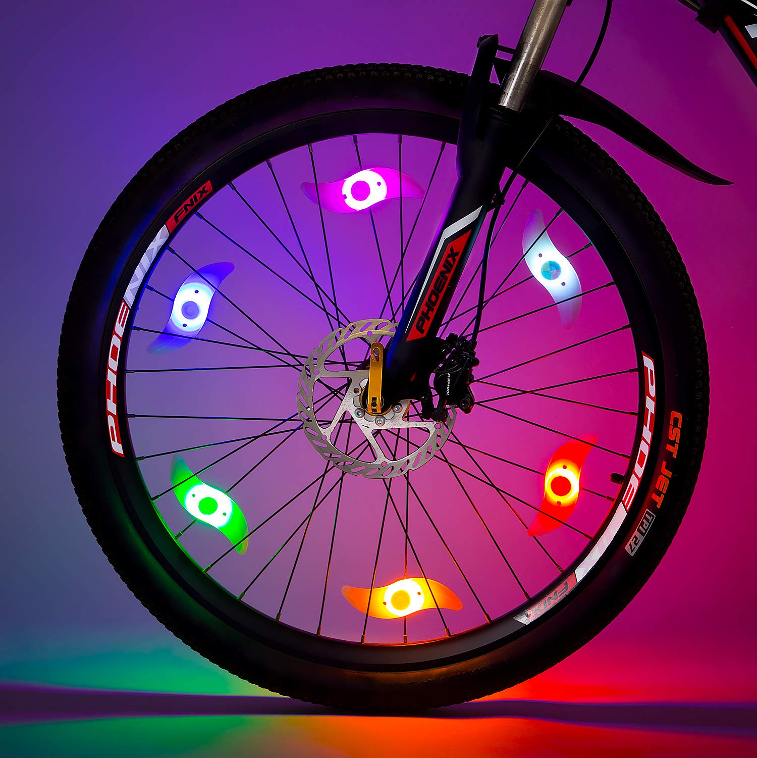 Colorful Bike Bicycle Cycling Spoke Wire Tire Tyre Wheel LED Bright Light Lamp R