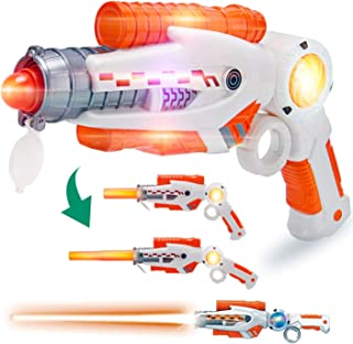 Liberty Imports 2-in-1 Transforming Gun Sword Light Up Saber Space Blaster Weapon for Kids with Lights and Sounds
