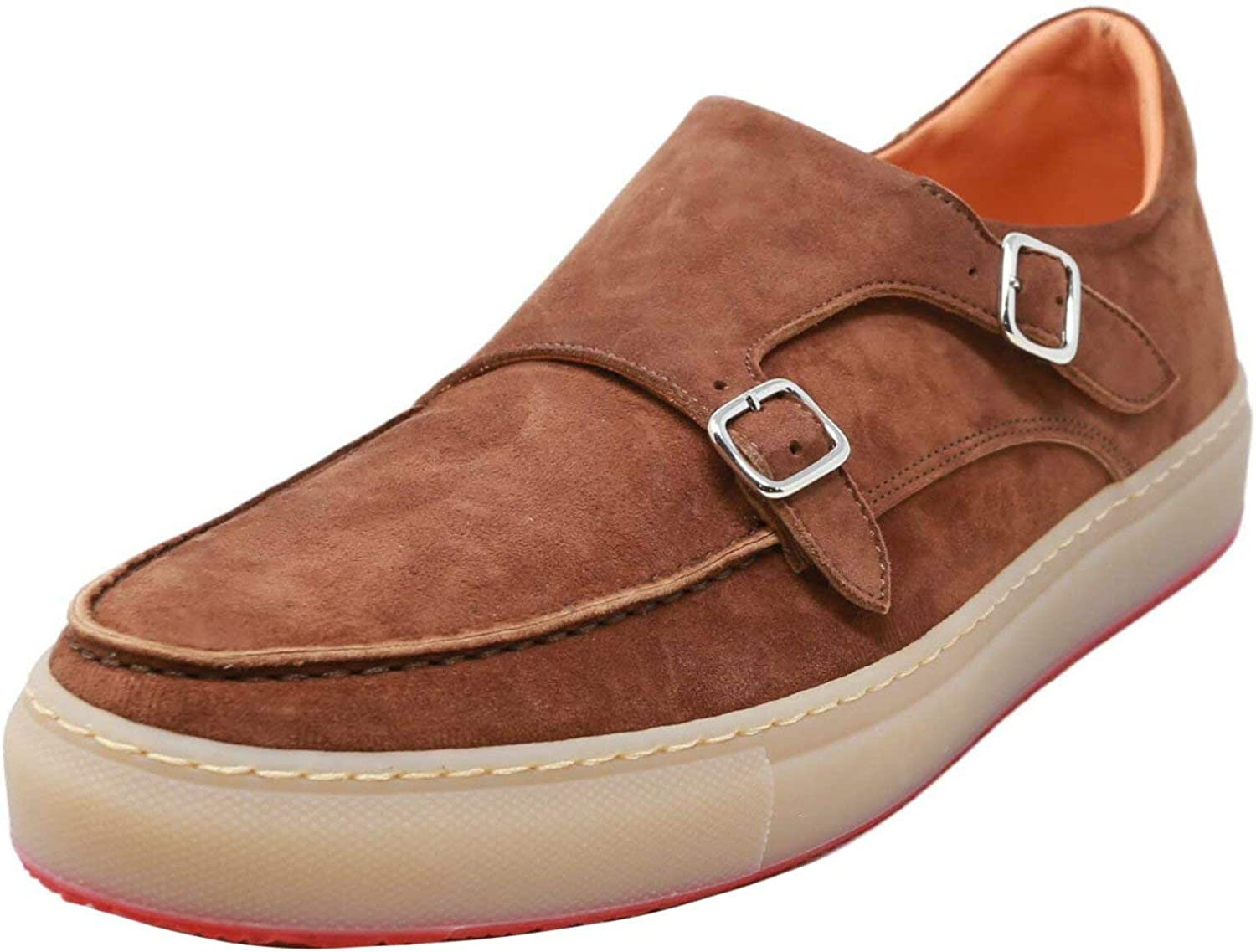 Andrea Ventura Firenze Men's Monks Cashmere Savage Rubber Ankle-High Leather Loafers & Slip-On - 9.5 M