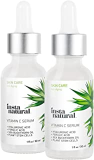 InstaNatural Vitamin C Serum Skin Kit 2 Pack 30ml Each