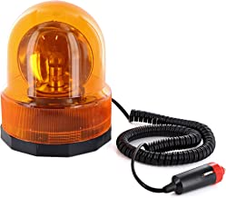 Ram Pro Rotating Emergency Warning Light Revolving Flashing Lights with a Permanent Magnet Low Noise Motor and Chrome Fresnel Reflector Helps to Visible for Long Distances