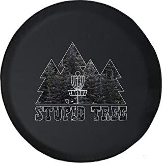 Spare Tire Cover Disc Golf Stupid Tree Pines fits SUV or RV Accessories Camper Size 35 Inch