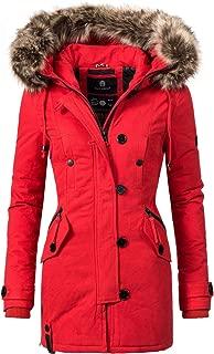 Only Donna Invernale Cappotto onliris Parka Giacca Pelliccia Cappuccio alla Moda Elegante Rosso Caldo