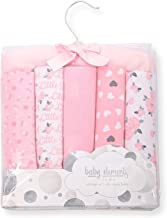 "Warm & Cozy 5-Pack Baby Receiving Blankets - 100% Flannel Cotton - 26"" x 26"" (Roses)"