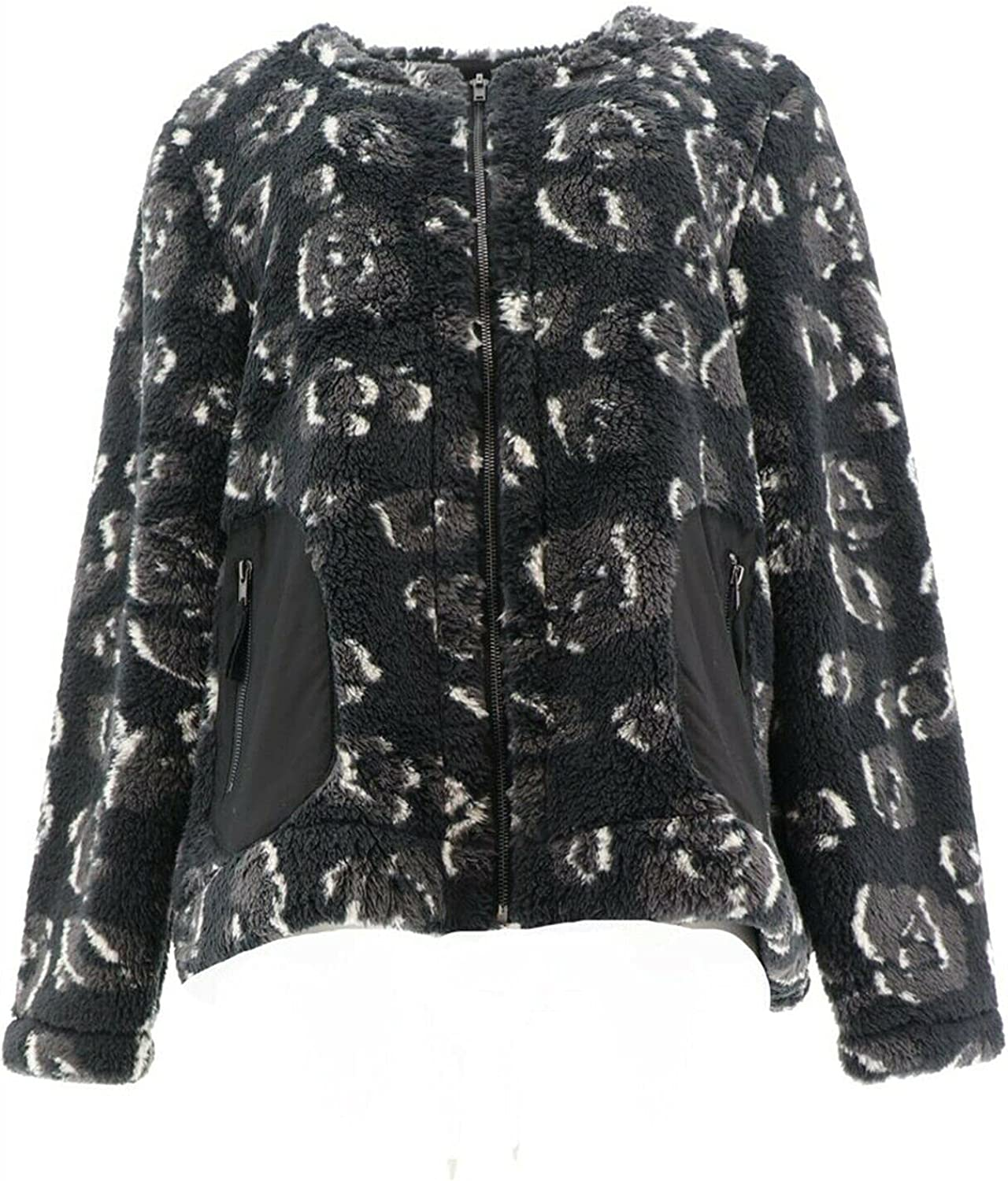 Logo Lounge Lori Goldstein Leopard All stores are price sold A387322 Jacket Black Sherpa