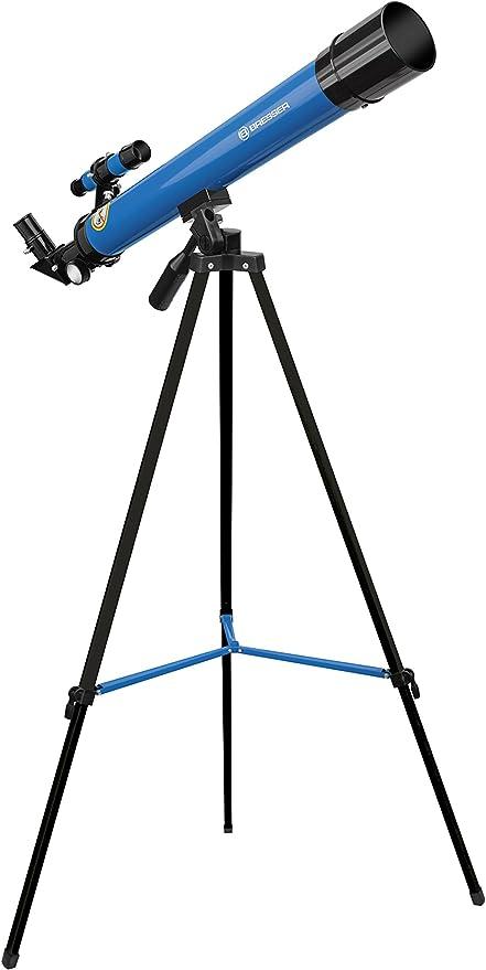 19 Bresser Junior Linsenteleskop 50 600 Az Mit Stativ Zum Beobachten Von Mond Planeten Und Tageslichtbeobachtungen