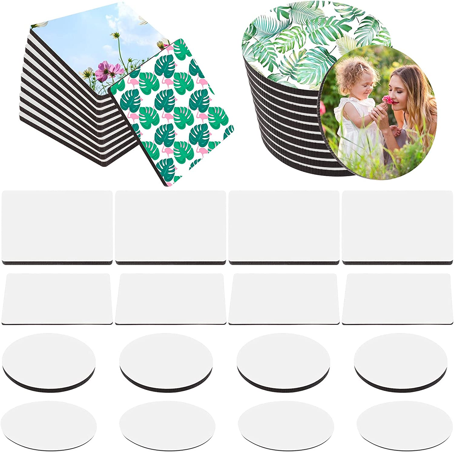 20 Pieces Sublimation Blank Max 89% OFF Refrigerator DIY Magnets Transf Max 64% OFF Heat