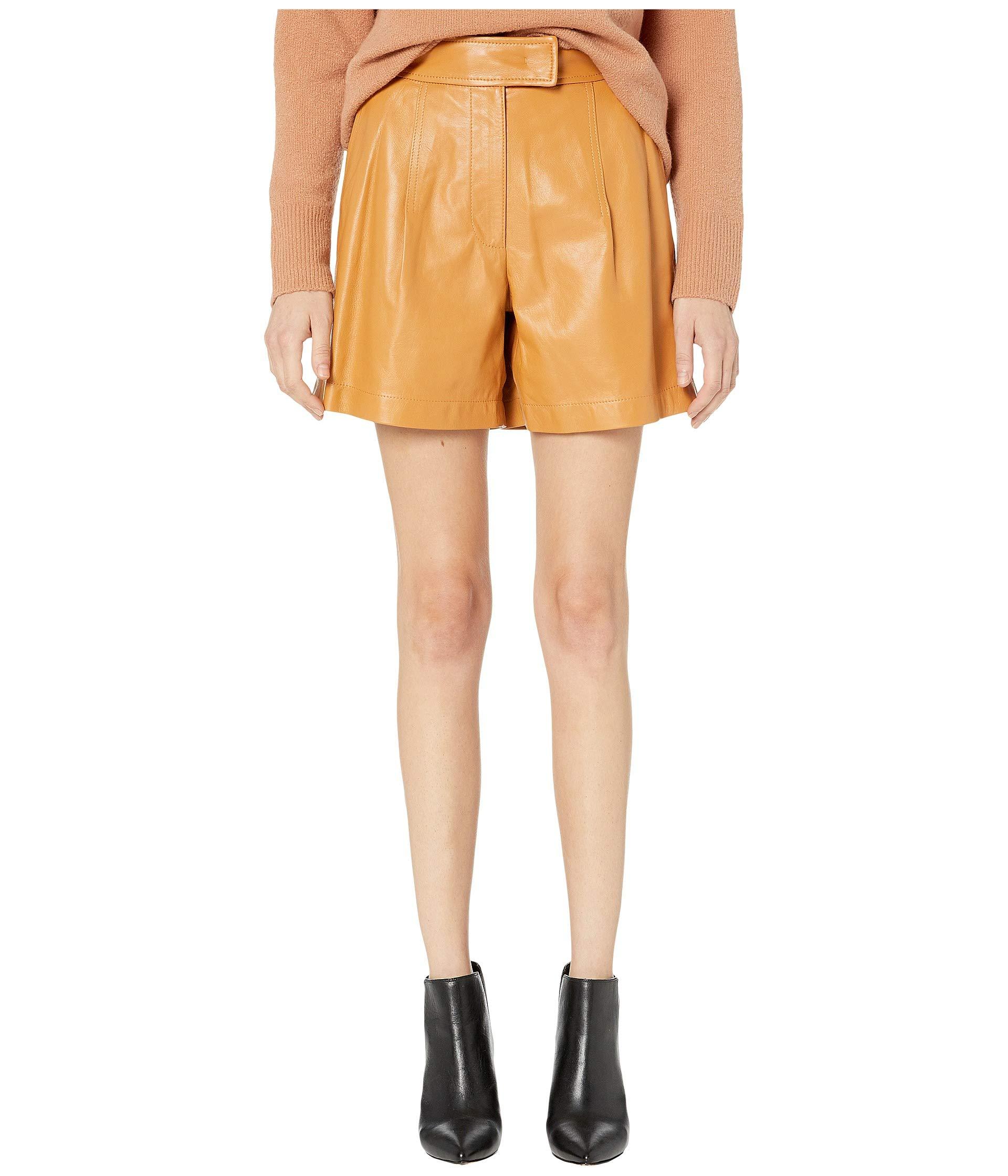 63035156 Sportmax Nepeta Leather Shorts at Luxury.Zappos.com