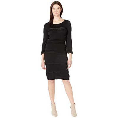 Gabby Skye Full Fashion Sweater Dress (Black) Women