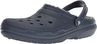 Crocs Men's and Women's Classic Lined Clog | Indoor and Outdoor Fuzzy Slipper
