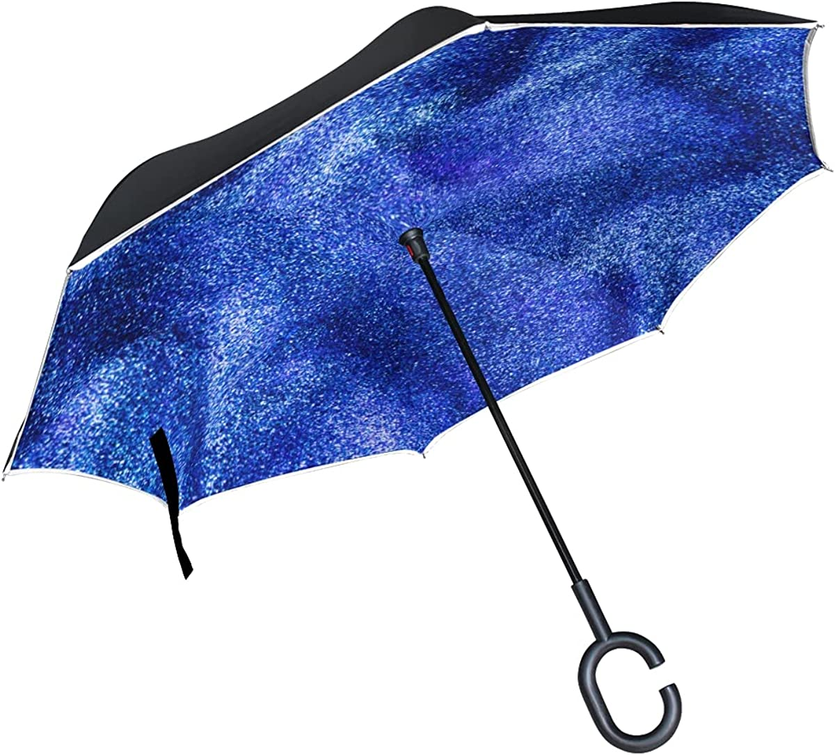 Inverted Umbrella Manufacturer direct delivery Blue Dynamic Windproo Liquid Ranking TOP5 Abstract