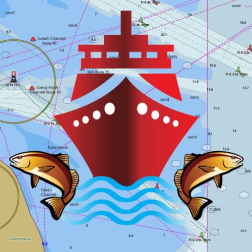 i-Boating: GPS nautisch / Marine Charts-offline Meer & Fluss Navigationskarten für Angeln & Segeln