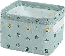 SOQNVLN Składane kosze do przechowywania z tkaniny, wodoodporne składane mini pudełka do przechowywania, organizer do prze...