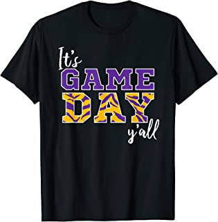 It's Game Day Ya'll Tiger Purple & Gold Tshirt