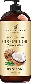 Fractionated Coconut Oil – 100% Pure & Natural Premium Therapeutic Grade - Coconut Carrier Oil for Essential Oils, Massage, Moisturizing for Skin & Hair, Great for Dogs – Huge 16 OZ - Bottle May Vary