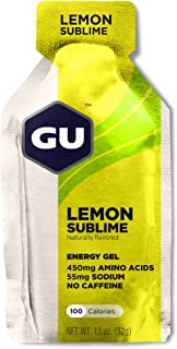 GU Energy Original Sports Nutrition Energy Gel, Lemon Sublime, 24-Count Box