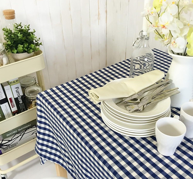 TLMYDD Tissu de nappe à voiturereaux bleu foncé méditerranéen voitureré tissu de table à hommeger Nappe (taille   140  180cm)