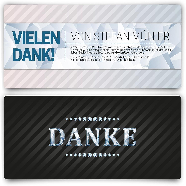 Danksagungskarten (40 Stück) VIP Dankeskarte Hochzeit und Geburtstag Schwarz Diamant UV-Lack B014DRZUBO  | Qualifizierte Herstellung