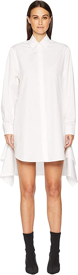 Marmo Button Long Sleeve Shirtdress