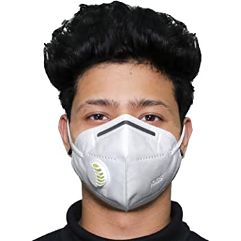 ORILEY K-N95 FDA Approved 5 Layer Disposable Face Mask with Filter & Nose Pin Respirator for Men & Women (5 Pcs)