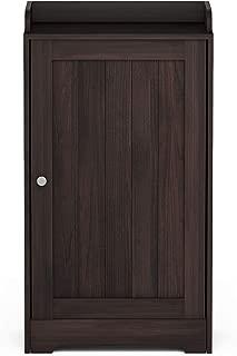 Furinno Indo Standing Louver Door Cabinet, Espresso