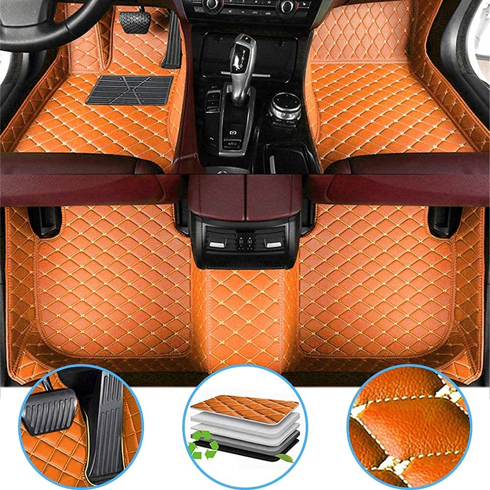 Car Floor Sale price Mats Fit for Ford Expedition Leather PU Direct store 1999-2008 Flo
