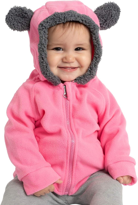Kids Fleece Sweatshirt Jacket - Baby Boy & Girl Sweater Outerwear Coat Toddler Full Zip Hoodie for Children