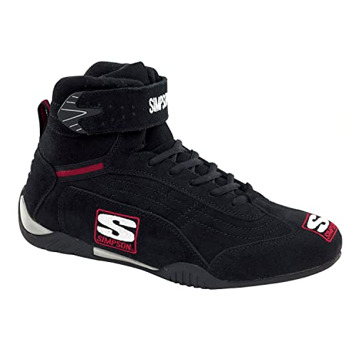 3b426552c28 Simpson Racing AD100BK Adrenaline Black Size 10 SFI Approved Driving Shoes