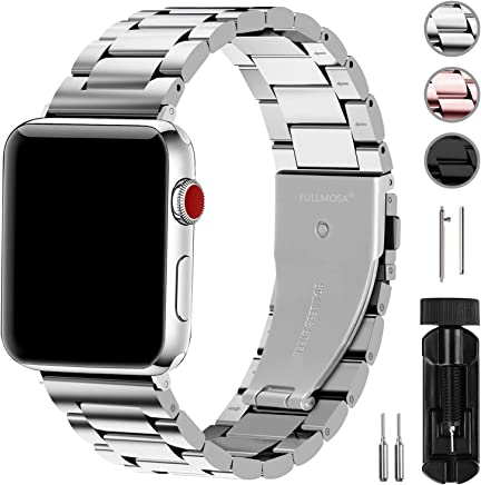 Fullmosa Compatible Apple Watch Band 42mm 44mm 38mm 40mm, Stainless Steel Metal for Apple Watch