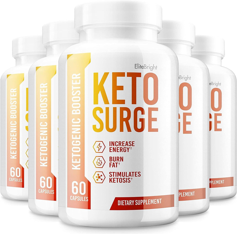 Selling rankings 5 Pack Keto Surge Pills Ketones 300 Advanced Ranking TOP7 Capsules