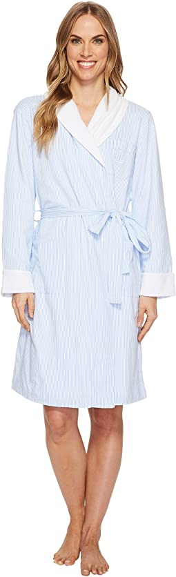 Short Shawl Collar Robe with Baby Terry Lining