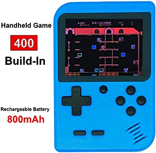 Retro Mini Game Machine,Handheld Game Console with 400 Classical FC Games 2.8-Inch Color Screen Support for TV Output , Gift Birthday for Kids, Adults (Gameboy Blue)