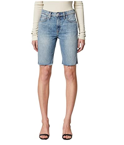 Hudson Jeans Freya High-Rise Denim Biker Shorts in Temptation (Temptation) Women