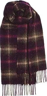 Luxury Scottish Soft Cashmere Scarf with Fringes Heather Tartan