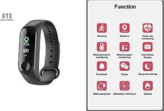 Blood Oxygen | Waterproof Smart Watch and Bracelet | Fitness Tracker Waterproof & Heart Rate (Black)