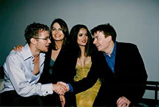 Vintage photo of Mexican-American actress Salma Hayek along with Ryan Philippe, Sela Ward and Mike Myers at the movie premier of