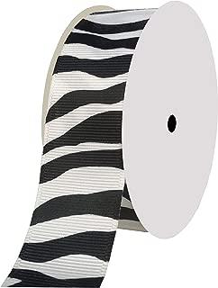 Duoqu Grosgrain Zebra Print Ribbon 10yd 7/8
