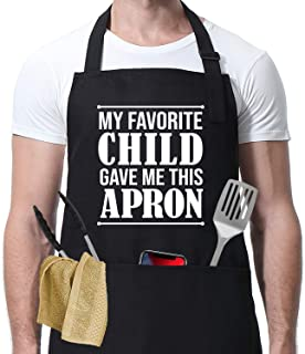 Miracu Funny Aprons - My Favorite Child Gave Me This Apron - Gifts for Dad, Gifts for Mom, Grandpa Gifts, Grandma Gifts - ...