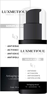 Luxmetique Serum facial 4A Día - Antiaging serum con VC-IP(R) Vitamina C. Complejo Antiestrés. Ácido hialurónico. Colágeno. 30 ml | OIL PARABENS & ALCOHOL FREE