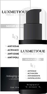 Luxmetique Serum facial 4A Día - Antiaging serum con VC-IP(R) Vitamina C. Complejo Antiestrés. Ácido hialurónico. Colágeno. 30 ml | OIL PARABENS & ALCOHOL FREE