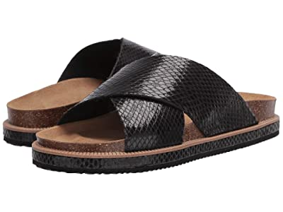 Free People Sidelines Footbed (Black) Women