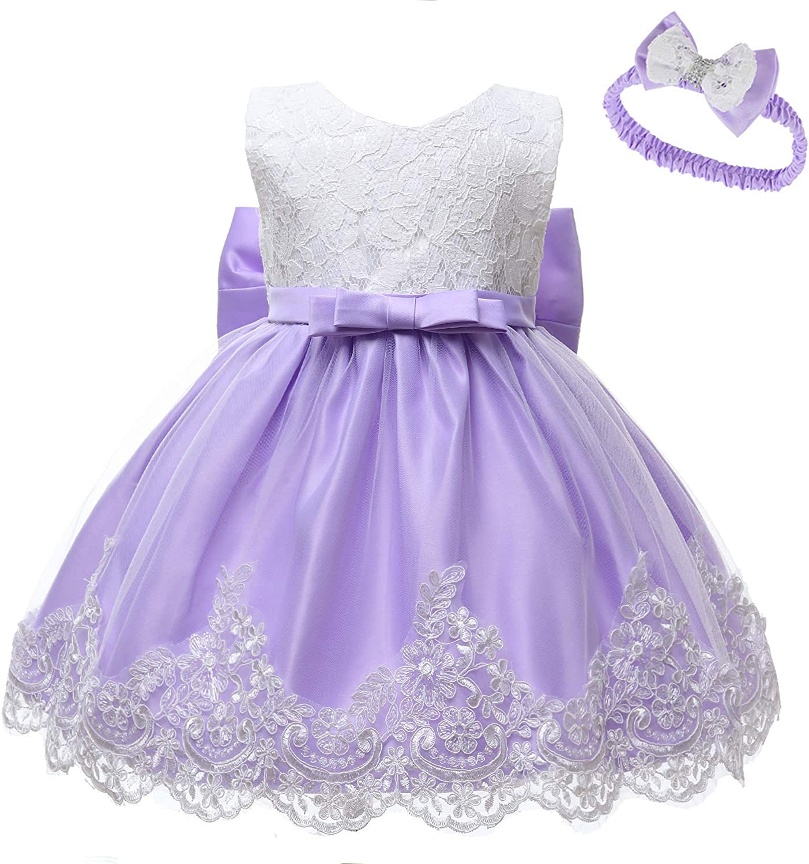 Newborn Infant Seasonal Wrap Introduction Baby Girl Formal Princess NEW Evening Tutu lace Dress
