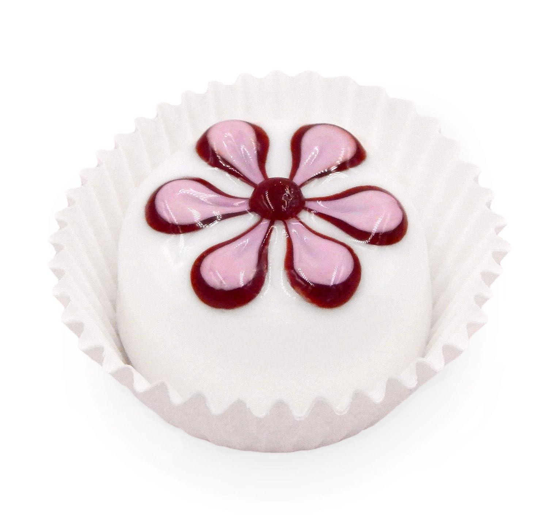 White Chocolate Cherry Rare Indefinitely Pansy Art Handmade Glass