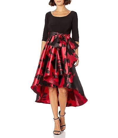 R&M Richards 1pc Print Poly Duchess Twill Hi/Lo Dress