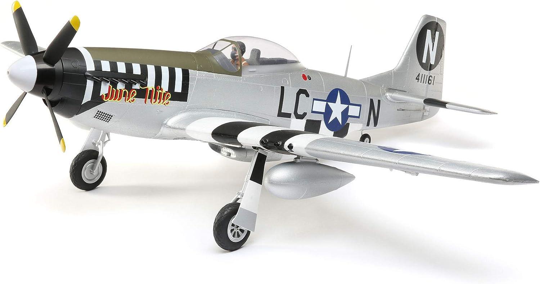 E-flite RC Airplane P-51D Mustang 公式ショップ an BNF 1.2m Transmitter Basic 正規店